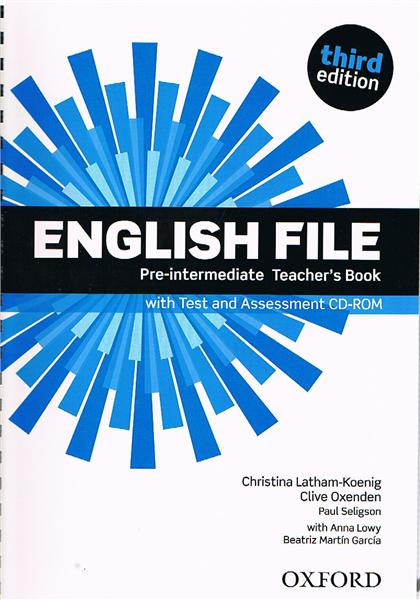 English File Third Edition Pre-intermediate Teacher's Book with Test&Assessment CD-ROM