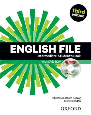 english file third edition intermediate students book pack itutor - ISBN: 9780194597104