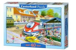 puzzle 40 el railway station maxi b-040018 - ISBN: 5904438040032