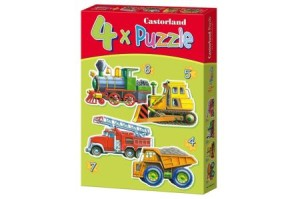 puzzle 4w1 vehicles b-04256-1 - ISBN: 5904438004256