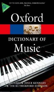 oxford dictionary of music 6e 2013 - ISBNx: 9780199578542