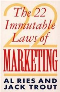 22 immutable laws of marketing - ISBN: 9780006383451