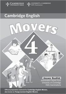 cambridge young learners english tests movers 4 answer booklet - ISBN: 9780521694025