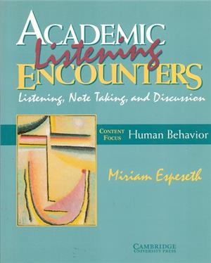 academic listening encounters human behavior - ISBN: 9780521578219