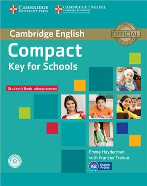 compact key for schools students pack without answers sb cd-rom wb with cd - ISBN: 9781107618794