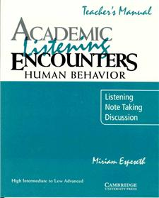 academic listening encounters human behavior teachers manual - ISBN: 9780521578202
