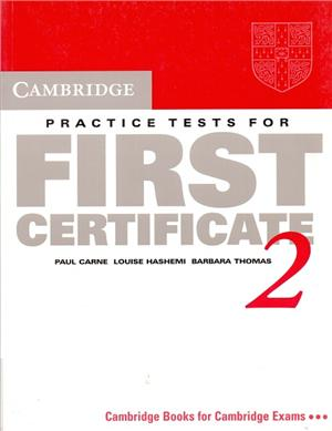 cambridge practice tests for first certificate 2 students book - ISBN: 9780521498999