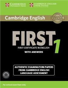 cambridge english first 1 for revised exam from 2015 authentic examination papers from cambridge - ISBN: 9781107663312