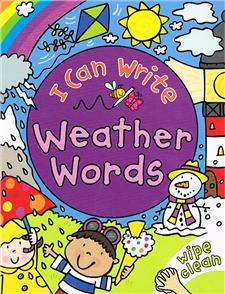 i can write weather words - ISBN: 9780753433614
