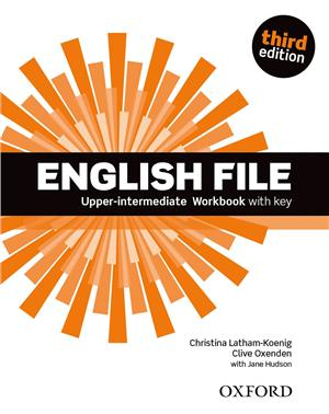 english file third edition upper-intermediate workbook with key - ISBN: 9780194558501