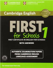 cambridge english first for schools 1 students book pack for revised exam from 2015 - ISBN: 9781107672093