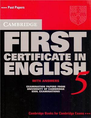 cambridge first certificate in english 5 students book with answers - ISBN: 9780521799171