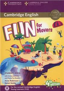 fun for movers 4th edition - 2018 exam students book with audio download online activities  home fun booklet - ISBN: 9781316617533