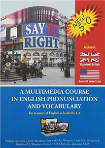 say it right 5 0 a multimedia course in english pronunciation and vocabulary - ISBN: 9788392370086