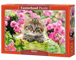 puzzle 500 el b-52974 kitten in flower garden - ISBN: 5904438052974