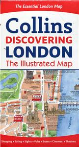 discovering london illustrated map - ISBN: 9780008214166