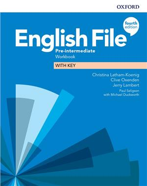 english file fourth edition pre-intermediate workbook with key - ISBNx: 9780194037686
