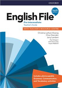 english file fourth edition pre-intermediate teachers guide with teachers resource centre - ISBN: 9780194037563