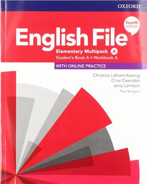 english file fourth edition elementary multipack a students book a workbook a with online practice - ISBN: 9780194031493