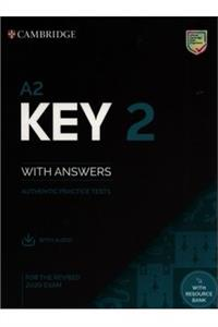 a2 key 2 students book with answers with audio with resource bank - ISBN: 9781108781589