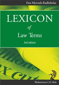 lexicon of law terms wyd 3 - ISBN: 9788325543563