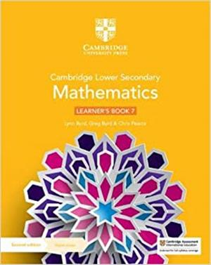 cambridge lower secondary mathematics learners book 7 with digital access 1 year - ISBNx: 9781108771436