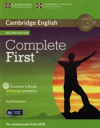 complete first 2e students book without answers  cd rom - ISBNx: 9781107633902