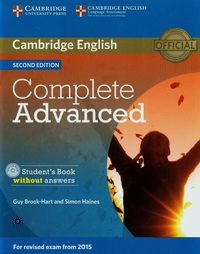 complete advanced 2ed student book without answers  cd-rom - ISBNx: 9781107631069