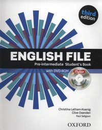 english file third edition pre-intermediate students book pack itutor - ISBN: 9780194598651