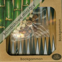 bambusowe mini gry backgammon - ISBN: 8590228005250