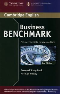 business benchmark 2e pre-inter - intermediate bulats and business preliminary personal study book - ISBN: 9781107628489