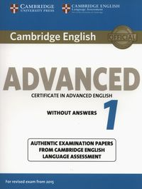 cambridge english advanced 1  certificate in advanced english without answers exam 2015 - ISBN: 9781107689589