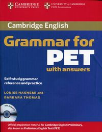 cambridge grammar for pet book with answers and audio cd - ISBN: 9780521601207