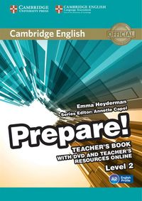 cambridge english prepare 2 teachers book  dvd - ISBN: 9780521180504
