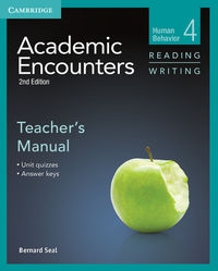 academic encounters 2e 4 reading writingteachers manual - ISBN: 9781107603004