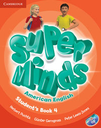 super minds american english 4 students book  dvd - ISBN: 9781107604322