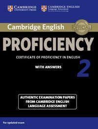 cambridge english proficiency 2 authentic examination papers with answers - ISBN: 9781107686939