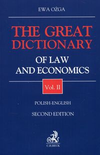 the great dictionary of law and economics 2 polish - english - ISBN: 9788325596989
